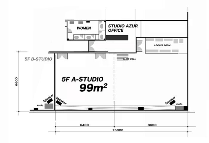 5F-Aスタジオ フロアマップ