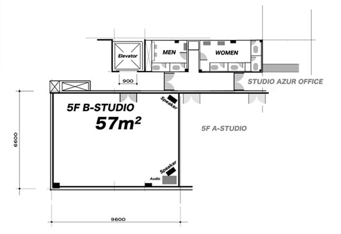 5F-Bスタジオ フロアマップ
